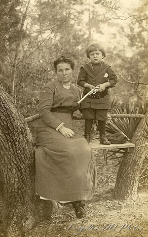 Kid with Gun Real Photo Postcard Dorset