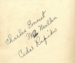 Extra Charles Emmet Mc Mullen back