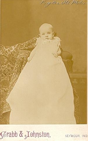 May Indiana Gladys Lockwood Cab Card DL Antiques shop