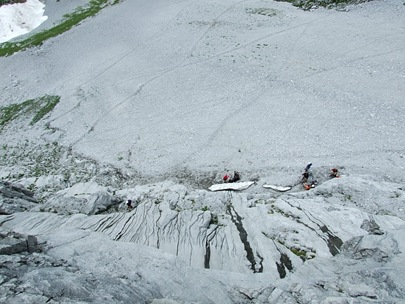 02--Gruppen am Fuss des Steigs
