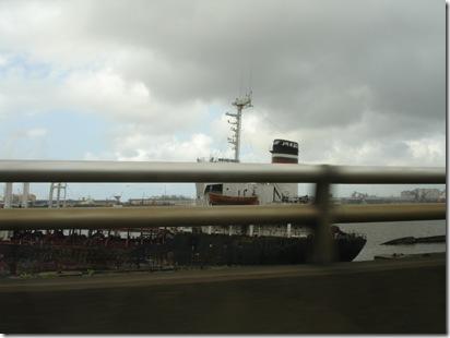Rusted ship at Lagos port