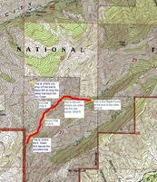 Dry Creek Map Caption