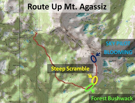 Agassiz route map