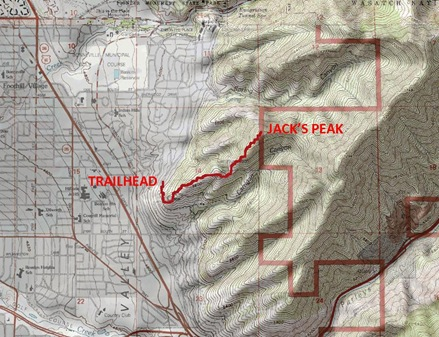 Route Jacks Peak