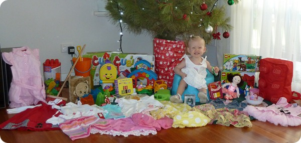 Emily with her gifts