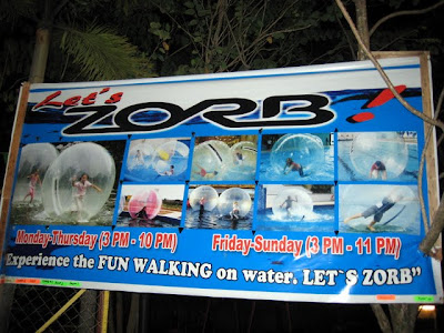 Let's Zorb, available at Matina Town Square