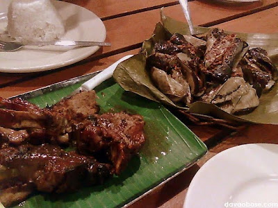 Spare Ribs and Adobong Tahong at Gardena Fresca Garden Pond & Grill