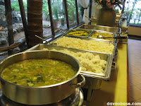 Soup, rice and appetizers in Nanay Bebeng Restaurant