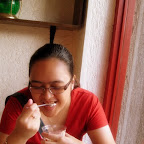 Wifey enjoys her Profiteroles at Margie's Bakeshop