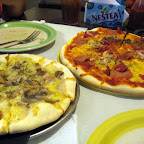 Power pizzas at Boyd's Pizza House: Johan's Special and Meaty Jeff