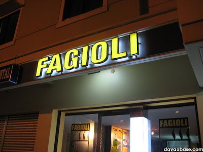 Fagioli Coffee Club: E. Quirino Avenue, Davao City