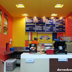 Bright colors adorn the Brothers Burger counter