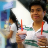 Hubby: Image model of Blue Yogo at SM City Davao?
