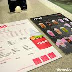 Menu cards at YoGo Premium Frozen Yogurt