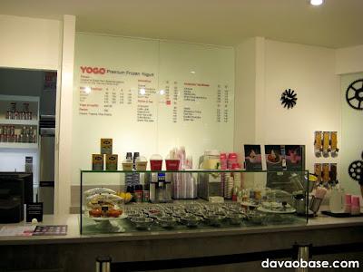 YoGo Premium Frozen Yogurt has an impressive and elegant display