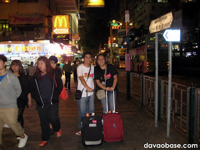 DavaoBase invades Hong Kong! Just arrived at Nathan Road, on our way to the hotel