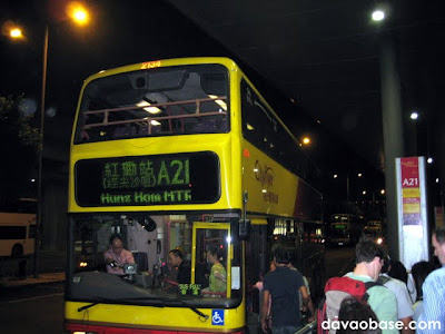 A typical double decker bus in Hong Kong