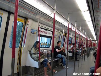 Inside the Mass Transit Railway (MTR) in Hong Kong