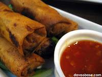 Pho Pia (fried spring rolls) at Bangkok Wok