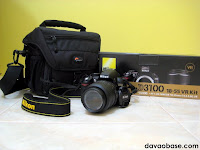 Nikon D3100 with 18-55 VR Lens and Lowepro Camera Bag