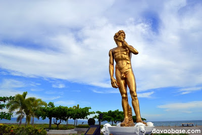 Statue of David at Baywalk along Times Beach shoreline