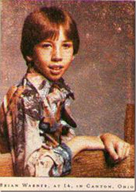 El pequeño Brian Warner, imagino que a principios de los 80