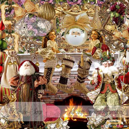 Скрап-набор – Рождество в стиле Барокко