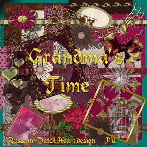 Скрап-набор - Время бабушки