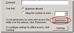 Win2003Server Permissions on Sharing tab