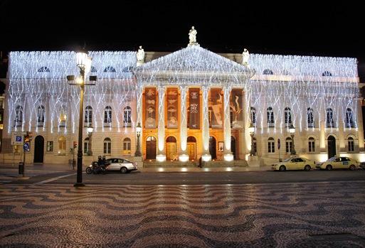 Baixa - Lisboa - teatro Nacional D. Maria II - 2