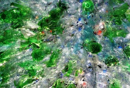 Figueira da Foz - Natal 2010 - arvore de Natal de garrafas plasticas - detalhe