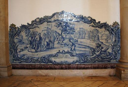 Mosteiro de Alcobaça- sala dos reis - azulejo