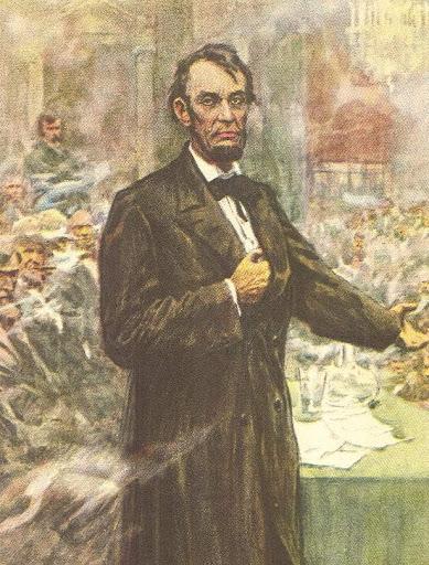 """Lincoln mit """"hidden hand"""""""