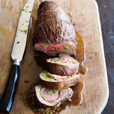 Flank Steak Stuffed with Asparagus Pesto