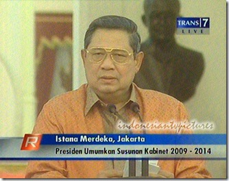 SBY Announces The List of His Ministers