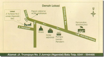 map to go to dedaunan guest house