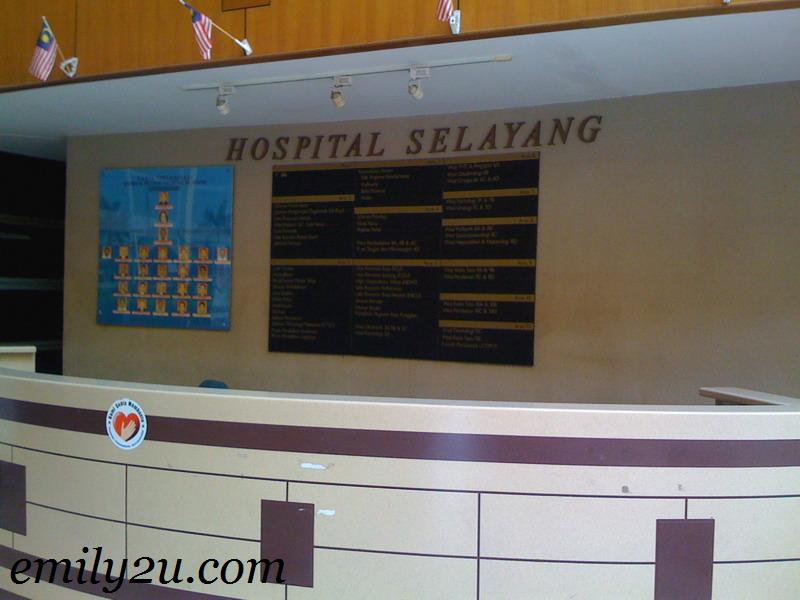 information counter Hospital Selayang