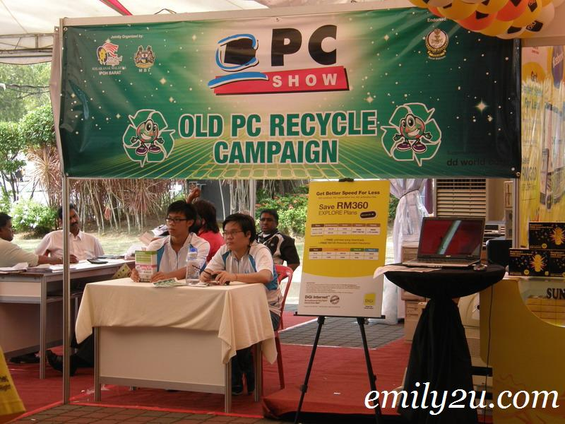 old PC recycling campaign
