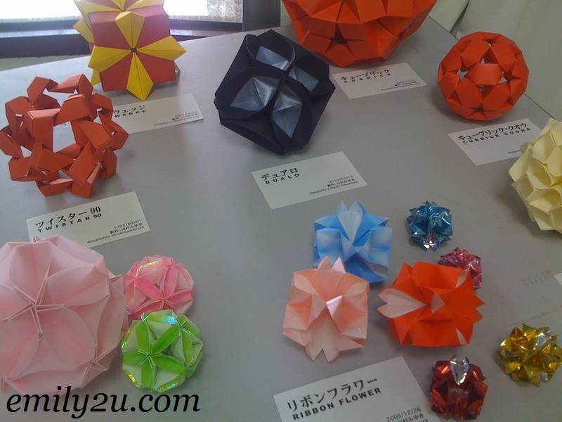 colourful origami