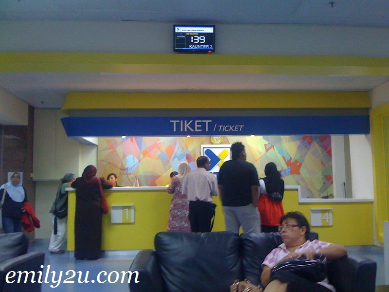 ETS ticket counter
