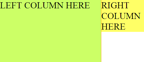 two column layout problem