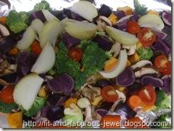balsamic veggies with purple potato