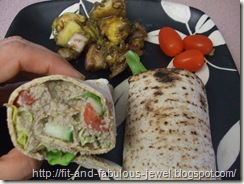 baba ganoush wrap
