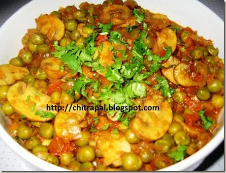 Chitra Pal Peas Mushroom Pasanda