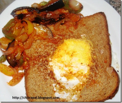 Chitra Pal Egg in Hole Sandwich