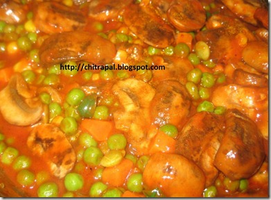 Chitra Pal Marinara Mushroom and Peas