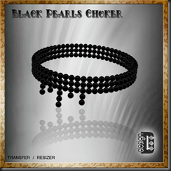 D-DESIGN Black Pearls Choker'