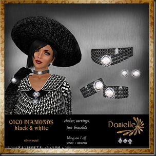 DANIELLE Coco Diamonds black and white'