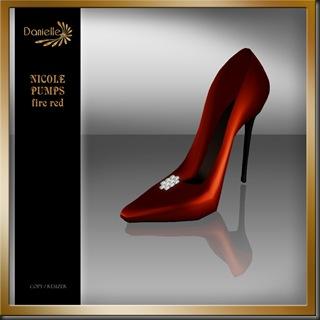 DANIELLE Nicole Pumps Fire Red'