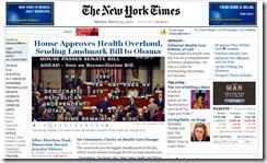 Usa Riforma sanitaria Voto Camera_NYT